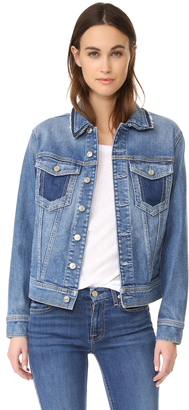 7 For All Mankind Denim Jacket $289 thestylecure.com