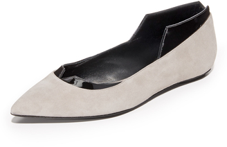 Casadei Grey Flats with Black Trim $510 thestylecure.com