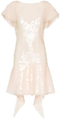 Natasha Zinko silk sequin embellished dress