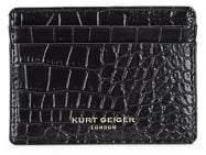 Kurt Geiger London Embossed Leather Card Holder