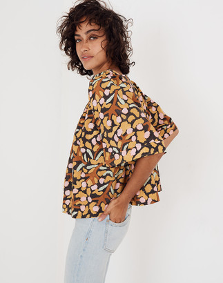 Madewell Whit Mira Top in Elderberry Print