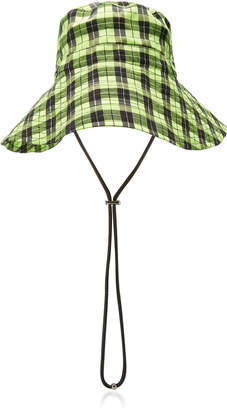 Ganni Plaid Seersucker Bucket Hat
