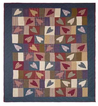 "Patch Magic Country Hearts Quilt Queen 85""X 95"""