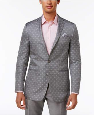 Tallia Men's Slim-Fit Gray Paisley Sport Coat $350 thestylecure.com