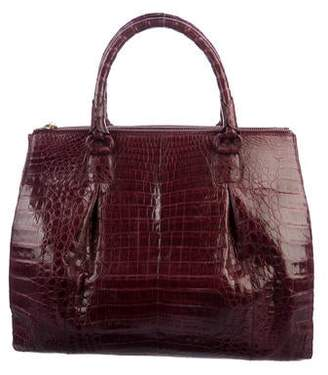 Nancy Gonzalez Dual-Zip Crocodile Tote
