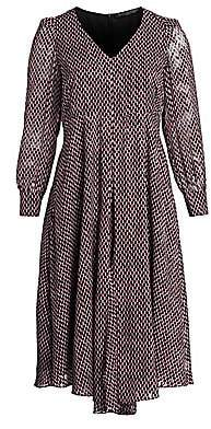 Marina Rinaldi Marina Rinaldi, Plus Size Women's Square Print Long Sleeve Dress