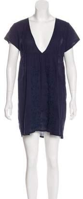 Melissa Odabash Embroidered Mini Dress