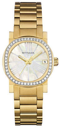 Wittnauer Adele Analog Pave Goldtone Watch