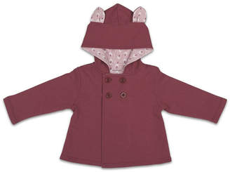 The Peanut Shell The Baby Girl Jacket, Solid W/ Bunny Ears