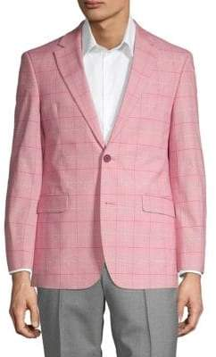 Tommy Hilfiger Windowpane Plaid Linen Sportcoat