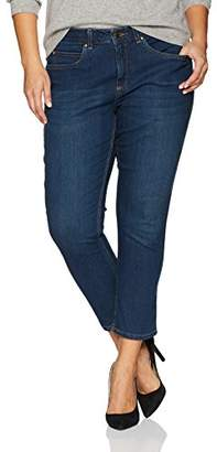 Rafaella Women's Plus Size Slimming Fit Ankle Denim