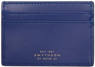Smythson Blue Wigmore Card Holder