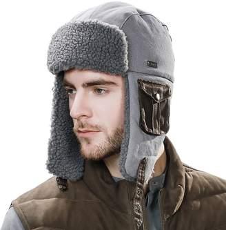 95827d3f7a7 Siggi Mens Trapper Hat Aviator Earflap Hat Faux Fur Warm Winter Hat Pilot  Soviet Russian Ushanka