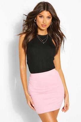 boohoo Pastel Crepe Micro Mini Skirt