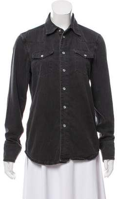 BLK DNM Denim Long Sleeve Top