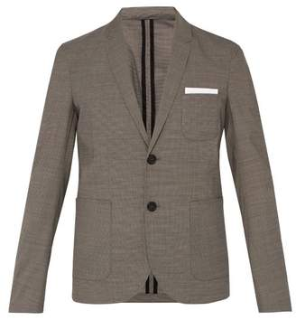 Neil Barrett Checked Single Breasted Blazer - Mens - Brown