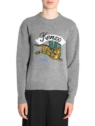 Kenzo Jumper With Embroidered Tiger