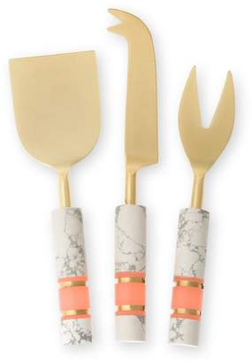 Oliver Bonas Marbled Stone Dust Cheese Knives