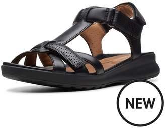 e19519eb29b Clarks Un Adorn Vibe Flat Sandals - Black