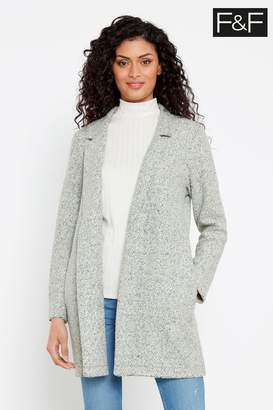 F&F Womens Grey Snit Coat - Grey