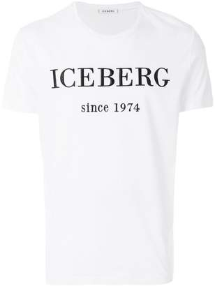 Iceberg logo embroidered T-shirt