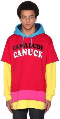 DSQUARED2 Cotton Tri-Layer Sweatshirt Hoodie