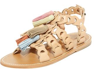Zimmermann Link Tassel Flat Sandals $480 thestylecure.com