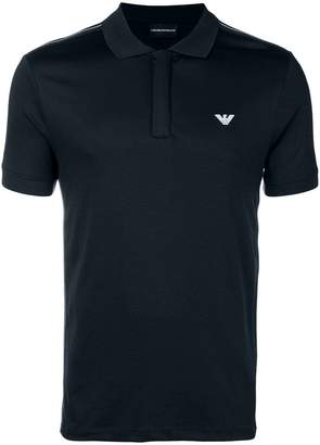 Emporio Armani logo short-sleeve polo top