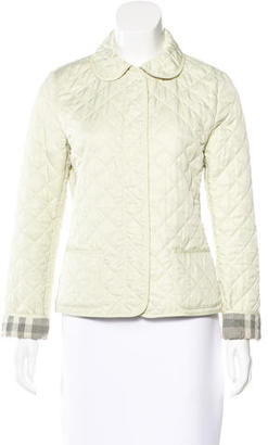 Burberry Brit Quilted Nova Check Jacket $295 thestylecure.com