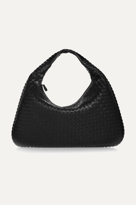 Bottega Veneta Veneta Large Intrecciato Leather Shoulder Bag - Black