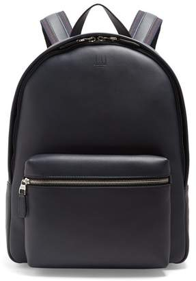 Dunhill Hampstead Leather Backpack - Mens - Navy