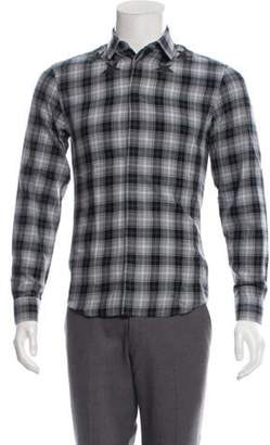 Givenchy Star Graphic Plaid Shirt grey Star Graphic Plaid Shirt