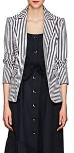 Derek Lam 10 Crosby Women's Striped Cotton Twill Blazer-Lt. Blue