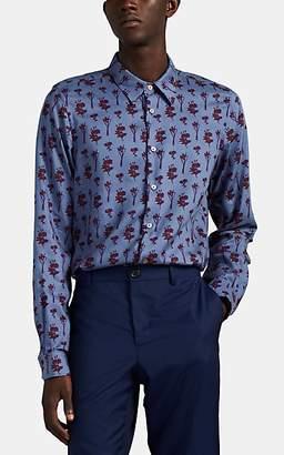 Paul Smith Men's Floral Poplin Shirt - Dark Gray