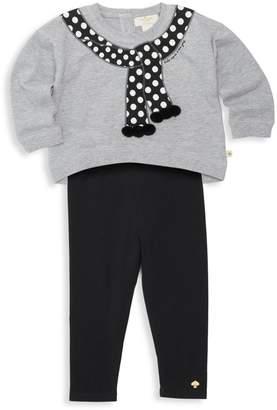 Kate Spade Baby Girl's Printed Sweater And Leggings Set