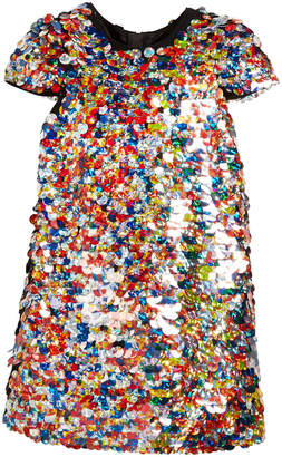 Milly Minis Chloe Multicolor Sequin Dress, Size 4-7