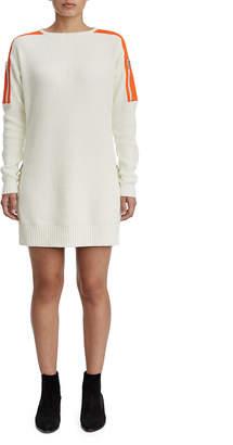 True Religion WOMENS CONTRAST UTILITY SWEATER DRESS
