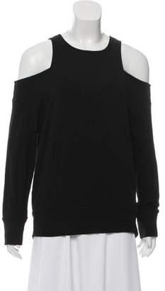 Monrow Long Sleeve Scoop Neckline Top