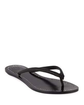 Tory Burch Liana Flat Leather Thong Sandals