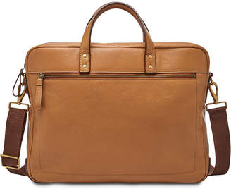 Fossil Men Haskell Leather Briefcase