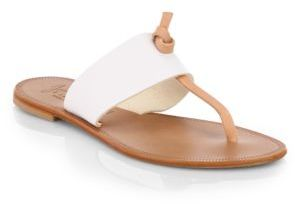 Joie Nice Two-Tone Leather Sandals $125 thestylecure.com