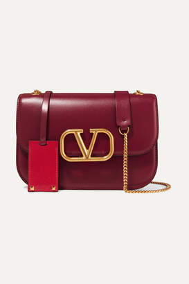Valentino Garavani Vlock Small Leather Shoulder Bag - Plum