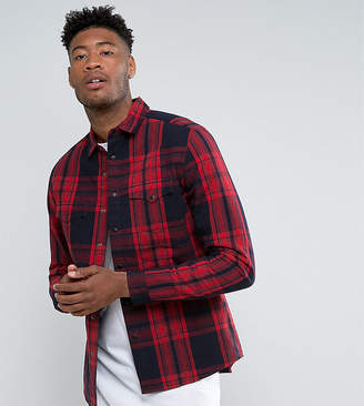 Asos DESIGN Tall quilted overshirt in red