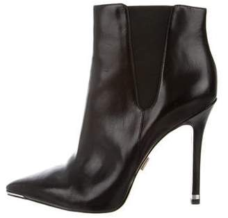 Michael Kors Leather Pointed-Toe Ankle Boots