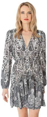 Hale Bob Magdelena Draped Jersey Dress
