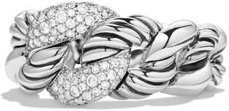 David Yurman 'Belmont' Curb Link Ring with Diamonds
