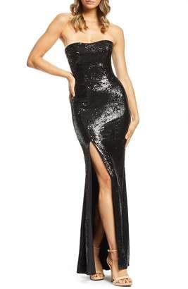 Dress the Population Ellen Strapless Sequin Evening Dress 0fe45eb94