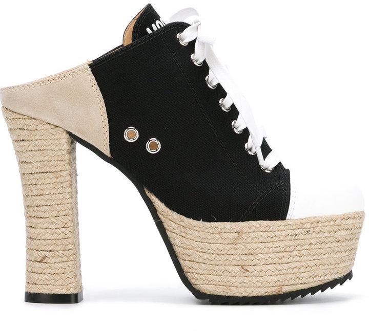 MoschinoMoschino jute sole sneaker mules
