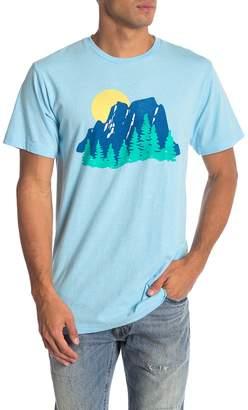 Body Rags Short Sleeve Mountain Scene Tee