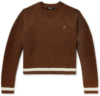 Undercover Ribbed Wool Sweater - Chocolate